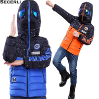 2018 Glasses Hooded Boys Winter Coat Jacket Long Sleeve Kids Boy Winter Jacket WindProof Children Winter Parkas 4 to 15 Years