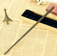 2016 Metal Core Newest Quality Deluxe Harry Potter COS Sirius Black Magic Wands Stick With Gift