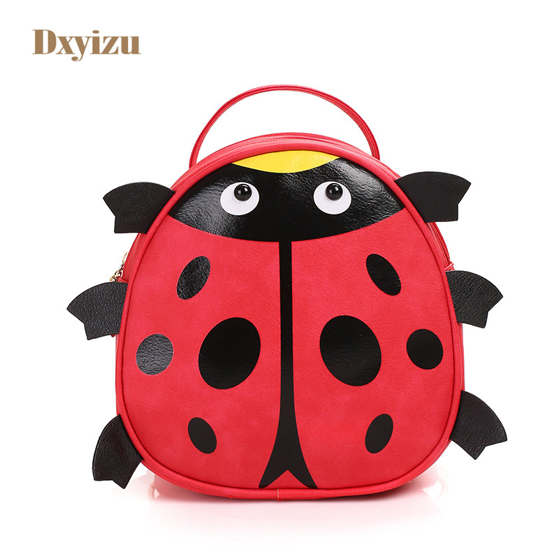 New Style 3D Coccinella Septempunctata Backpacks For Kids Cute Kindergarten Satchel High Quality Bags For 3