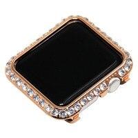 Handwork crystal rhinestone diamond jewelry bezel case cover 18K platinum case for Apple watch 38mm 1 2 3