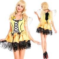 Female Adult Costume Angel Yellow Bee Halloween Cosplay Nightclub Nightclubs Ds Costumes