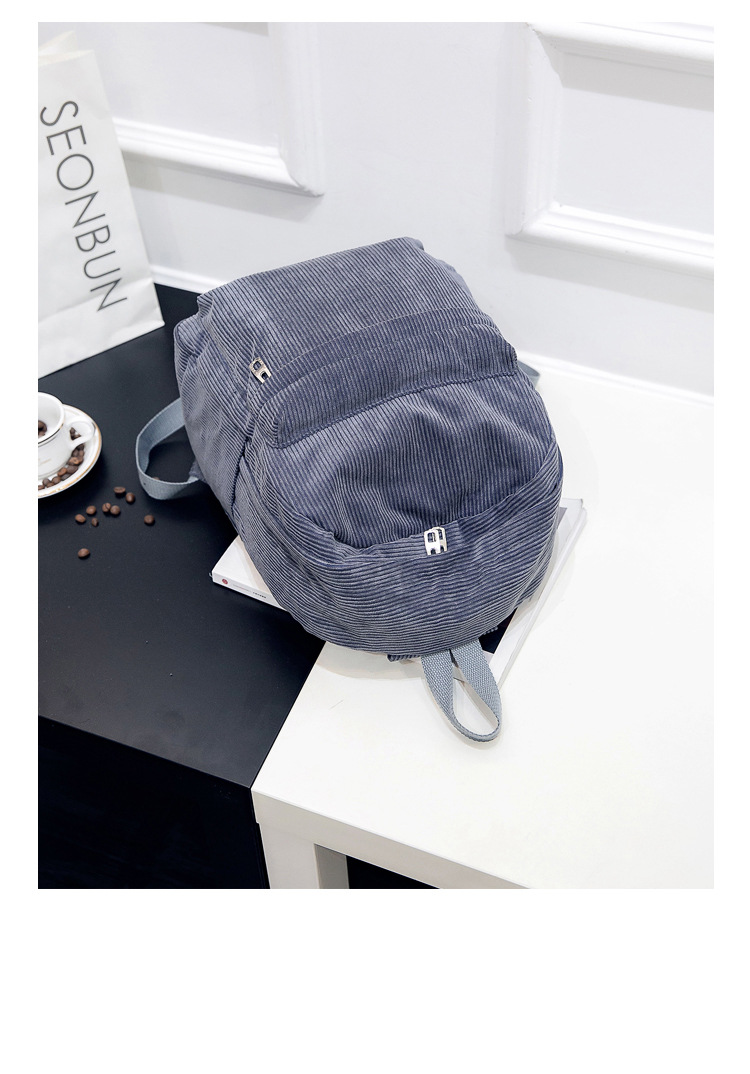 HTB1SYTmd8Cw3KVjSZFuq6AAOpXav 2019 New Corduroy Women Backpack Pure Color Women Travel Bag Fashion Double Backpack Female Mochila Bagpack Pack Design