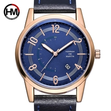 New Arrival Fashion Casual Blue Dial Calendar Date Wristwatch Quartz Men Top Brand Luxury Men's Wrist Watches Relogio-Masculino durable new luxury brand faux leather calendar date men nary watch casual quartz wristwatch men wholesale free shipping