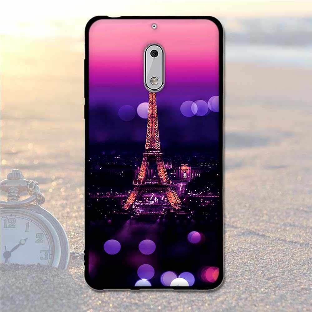 Funda de pintura de lujo para Nokia 6 funda de silicona trasera Coque Android 7 funda de teléfono para Nokia6 5,5 pulgadas funda de TPU suave para Nokia 6 bolsas