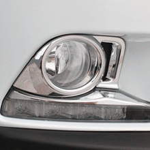 Free Shipping High Quality ABS Chrome Front Fog lamps cover Trim Fog lamp shade Trim For Toyota Highlander недорого
