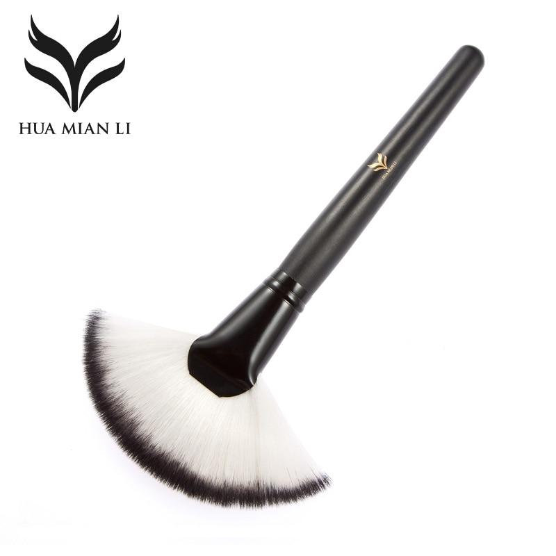 2019 Long pole black tube large fancy blush powder single makeup brush
