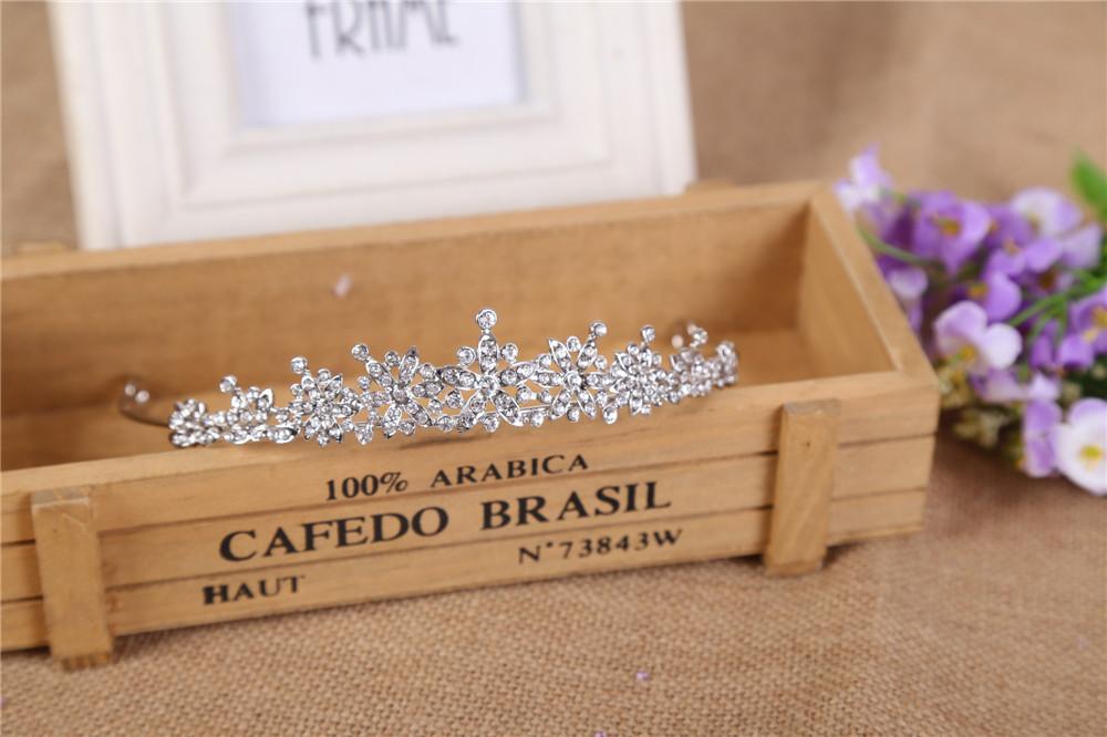 3 Designs Fashion Crystal Wedding Bridal Tiara Crown For Women Prom Diadem Hair Ornaments Wedding Bride hair Jewelry accessories 5