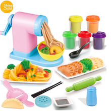 3D Noodle Plasticine Kitchen Toys For Children Play Polymer Dumplings Clay With Tool Kids Modeling Spaghetti Puzzle Mud Kit Gift