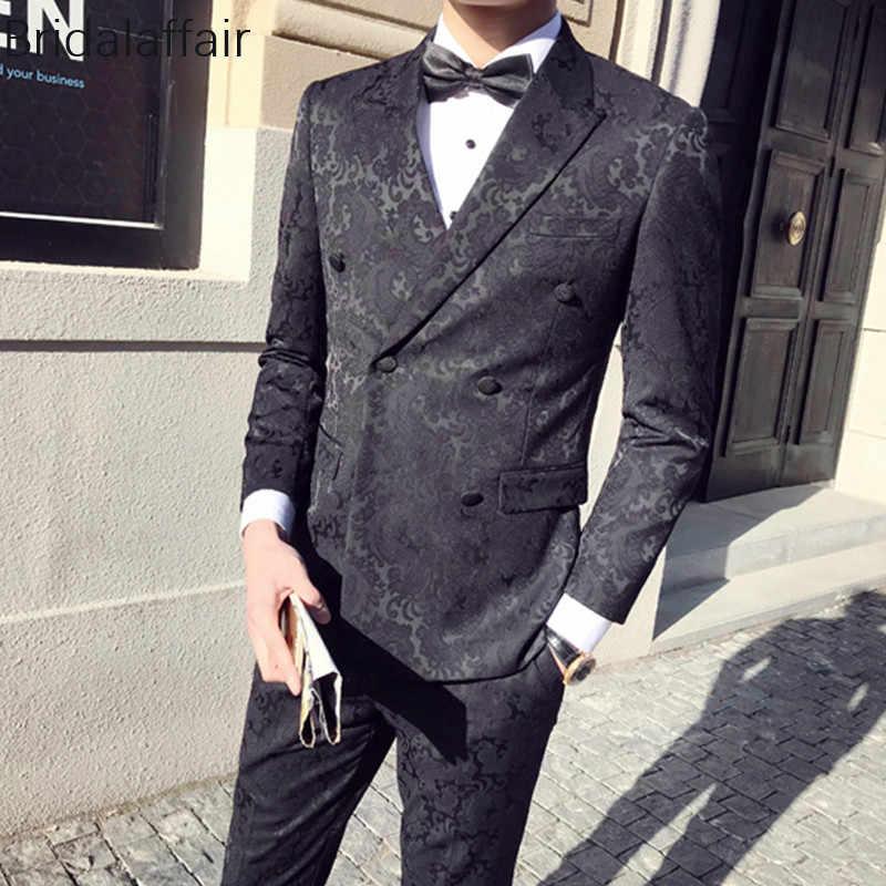 Замечательный черный смокинг жениха мужской костюм s для свадьбы выпускного