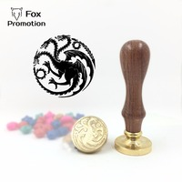 Hot Game Of Thrones Targaryen Wax Seal Stamp With Handle Scrapbooking DIY Ancient Seal Retro Stamp