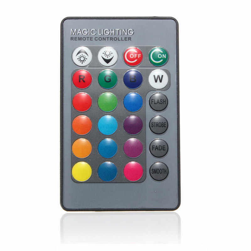 Top Quality 24 Keys IR Wireless Remote Controller For Globe Bulbs RGB Light Lamp LED Strip Lights Without Battery