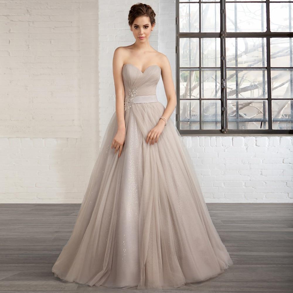 Popular gray wedding dresses buy cheap gray wedding for Silver beaded wedding dress