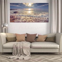 Large Posters Gallery Canvas Print Seascape Beach Sunset Landscape Pictures for Bathroom Lobby Hallway Home Decor Drop Shipping
