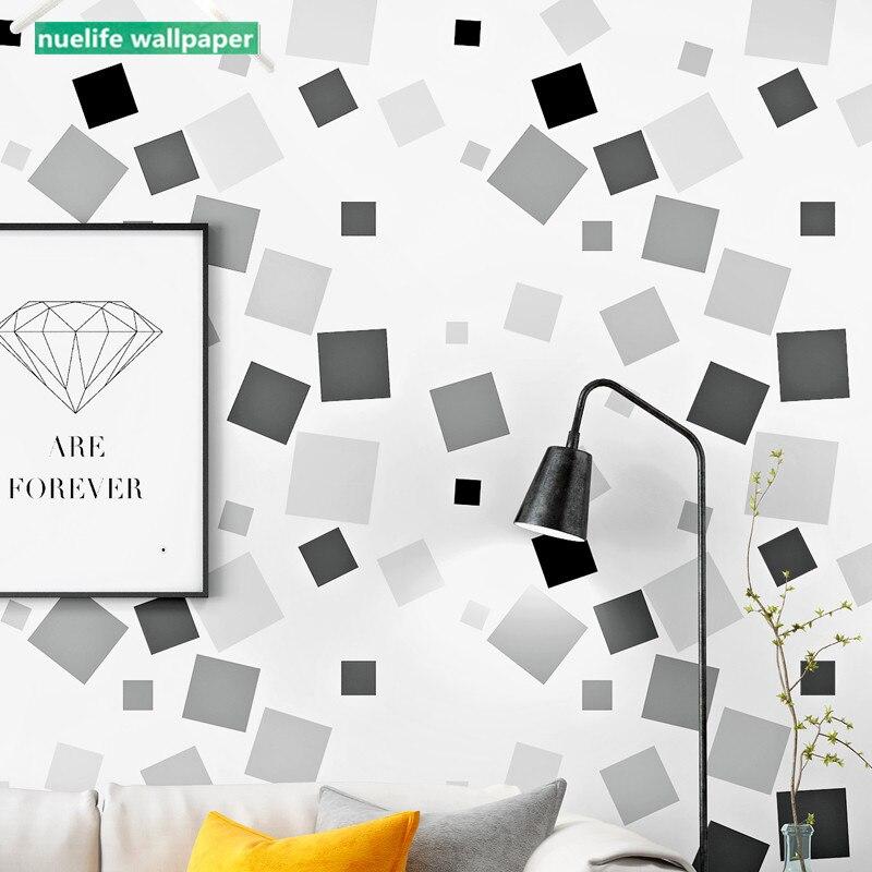 Noir et blanc plaid motif géométrique enfants chambre salle à manger bureau chambre salon TV fond décoration papier peint