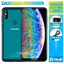 Hızlı gemi DOOGEE Y8 3 GB RAM 16 GB ROM Android 9.0 Smartphone 6.1