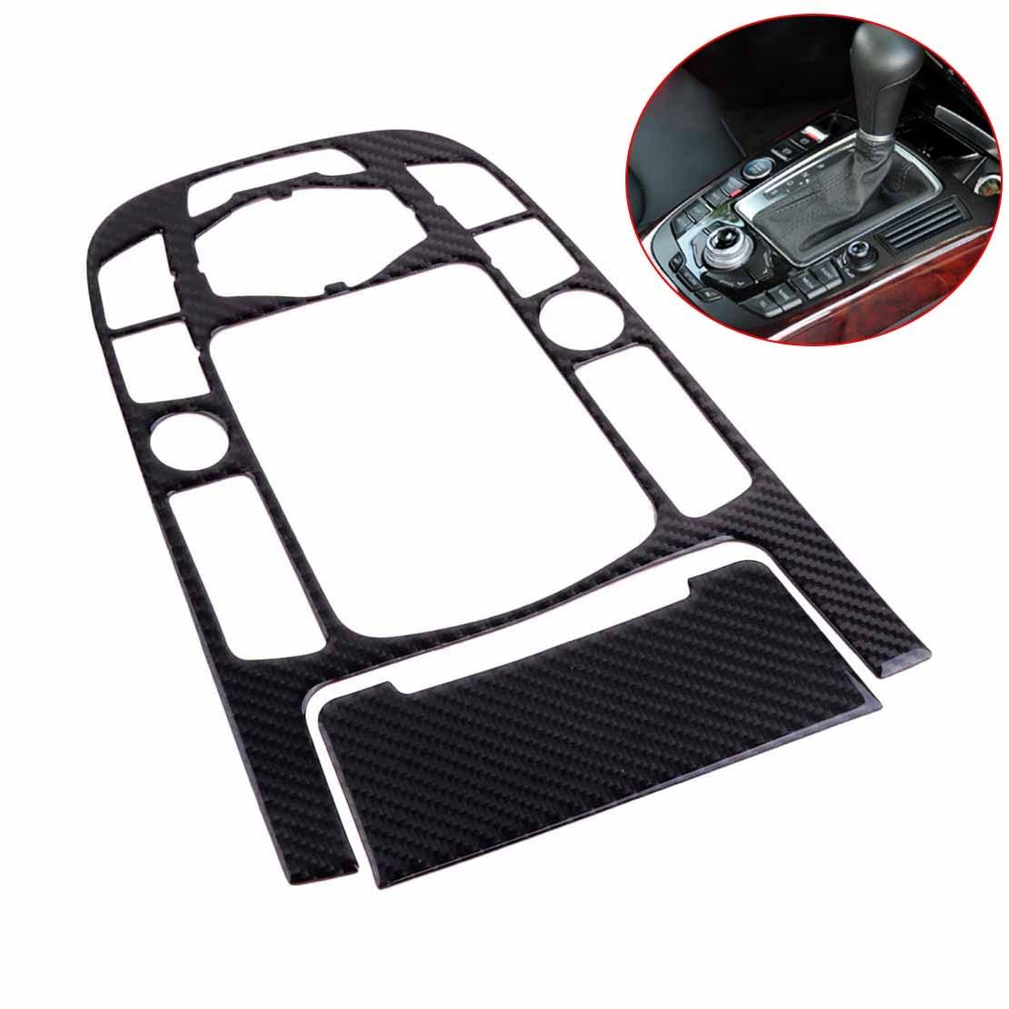 DWCX centre de contrôle de bande de Fiber de carbone panneau de changement de vitesse garniture de voiture intérieur cadre décoratif moulage adapté pour Audi A4 A5