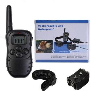 Image 2 - 300м дистанционный перезаряжаемый и водонепроницаемый электронный ошейник для дрессировки собак с ЖК дисплеем для Ошейников для собак с защитой от лай 998DR
