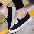 large Size 35-40 summer 2017 women fashion slip on woman Flat casual shoe canvas Leisure shoes comfortable zapatos free shipping