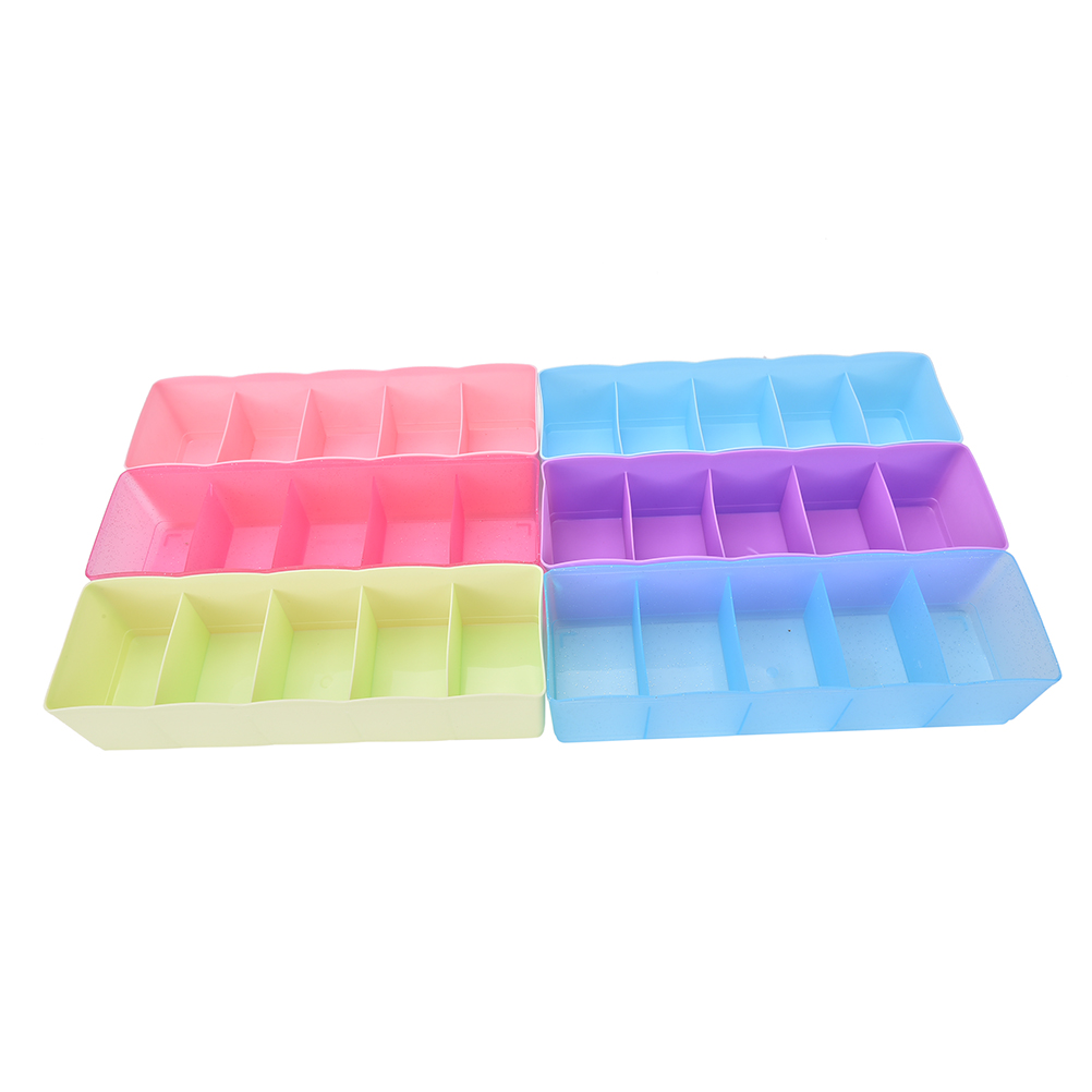 Multi-function Desktop Drawer Storage Box Five Grid Storage Box Clothing Organizer  Underwear Panties Socks Bra Ties Organizer