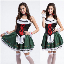 Free Shipping Beer Festival Dress Restaurant Waitress Waiter Dining Room Attendant Maid Costumes Clothes Roll Playing S M L Xl