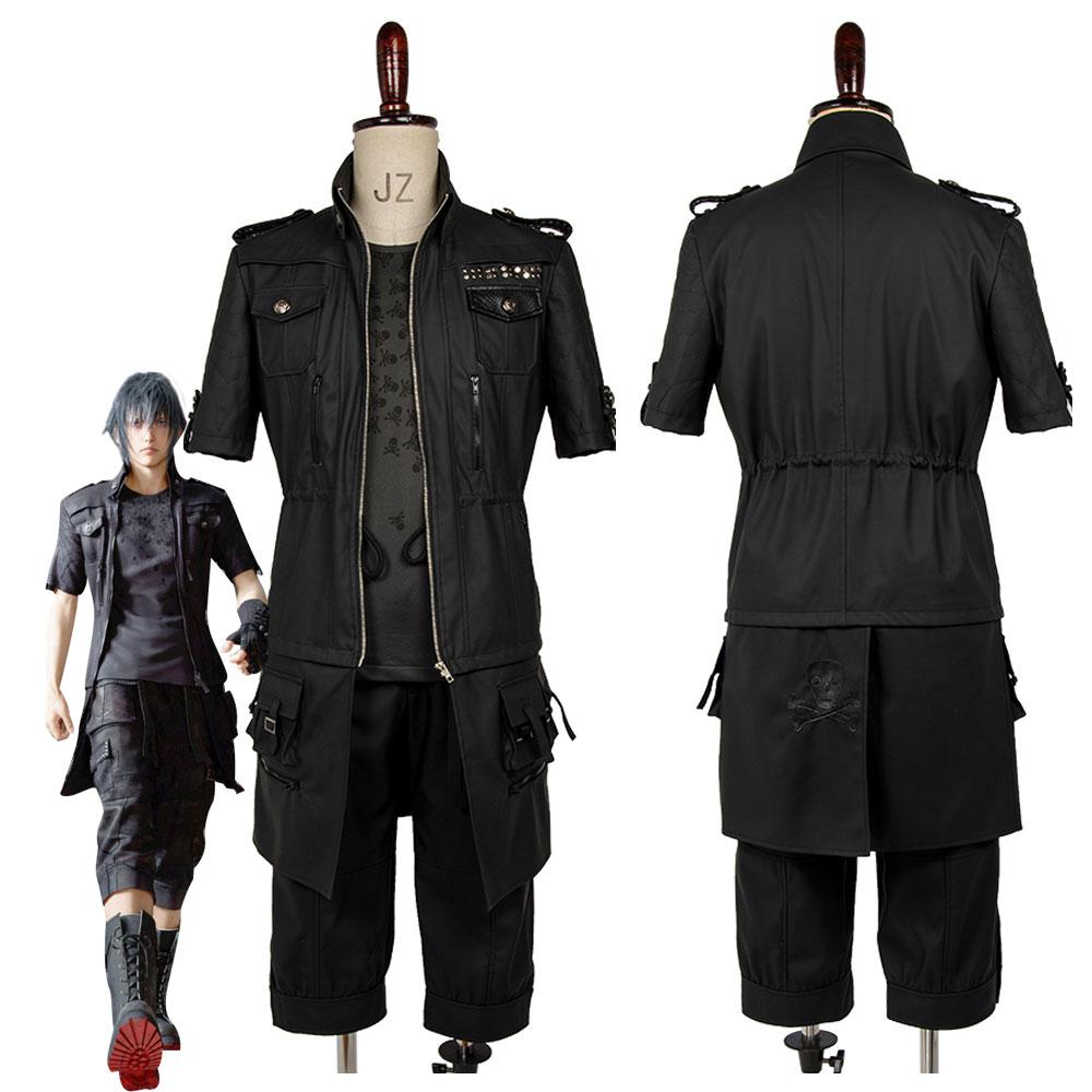 Adulte FF XV FF15 Noctis Lucis Caelum Noct Costume de Cosplay tenue mâle femme sur mesure toute taille