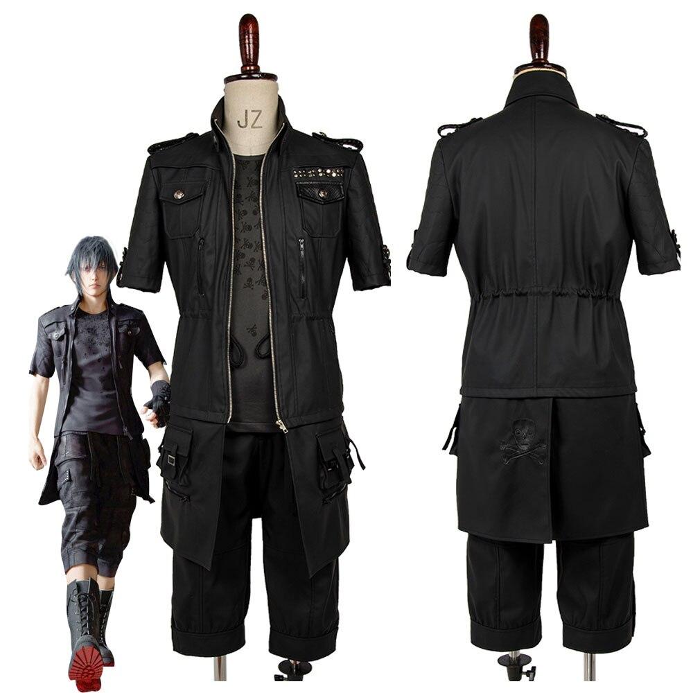 Adulte Final Fantasy XV FF15 Noctis Lucis Caelum Noct Cosplay Costume Outfit Femme Homme Fait Sur Commande N'importe Quelle Taille