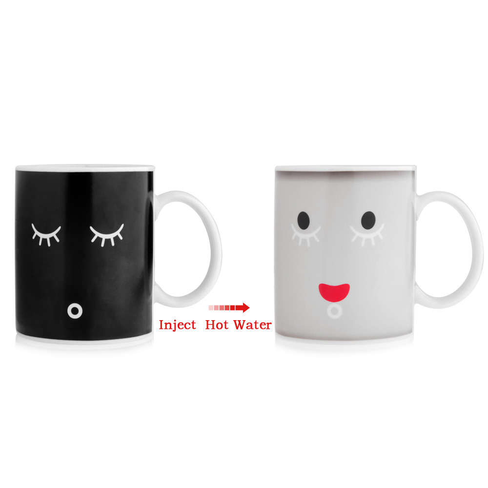 In Face Tea White Love Mugs Cup Morning Present Magic Coffee Smile Colour Ceramic Black Gift Mug 93350ml Birthday Change Us16 From Color F1JlcK