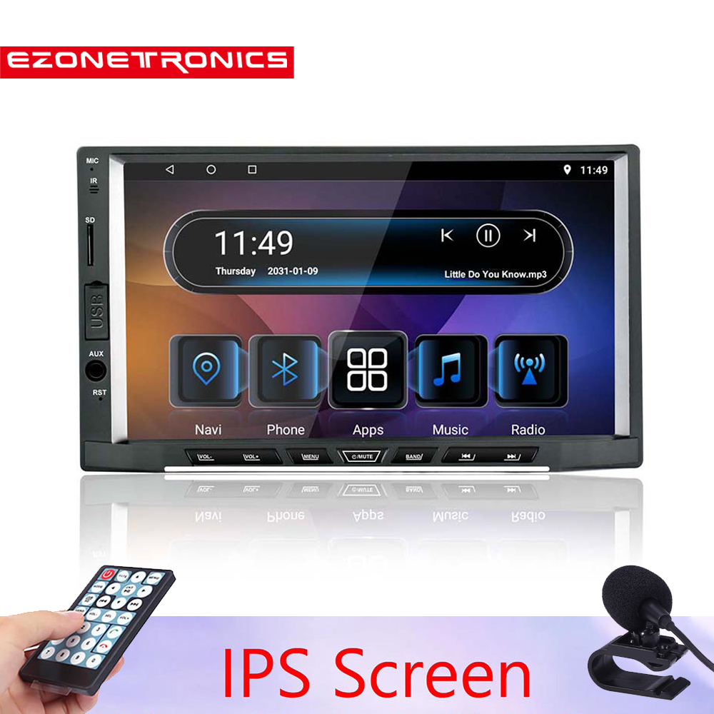 2019New 2 Din Android 8.1 Car Radio Stereo 7 inch IPS Universal Car Player GPS Navigation Wifi  Audio Octa Core with 2G DDR3