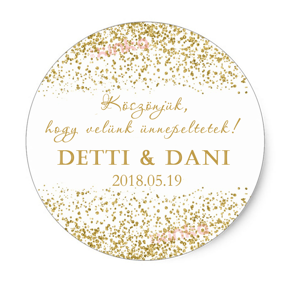 Us 7 65 19 off60pcs personalized gold paper sticker wedding date and name wedding favors label candy box tags bottle stickers gold birthday in