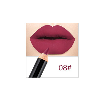 12 Colors Matte Lip Liner pen use with lipstick Long Lasting Pigments Waterproof no blooming beauty Makeup color optional ZGG
