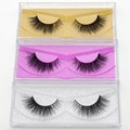 FreeDHL 100pairs Visofree Eyelashes Mink False Eyelashes Handmade Mink Collection 3D Dramatic Lashes 18style Glitter Packaging