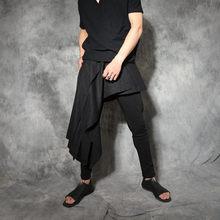 1dbd345408c08d 2017 Mannen kleding Bigbang Kapper mode Gepersonaliseerde broek punk  mannelijke asymmetrische shorts zanger kostuums