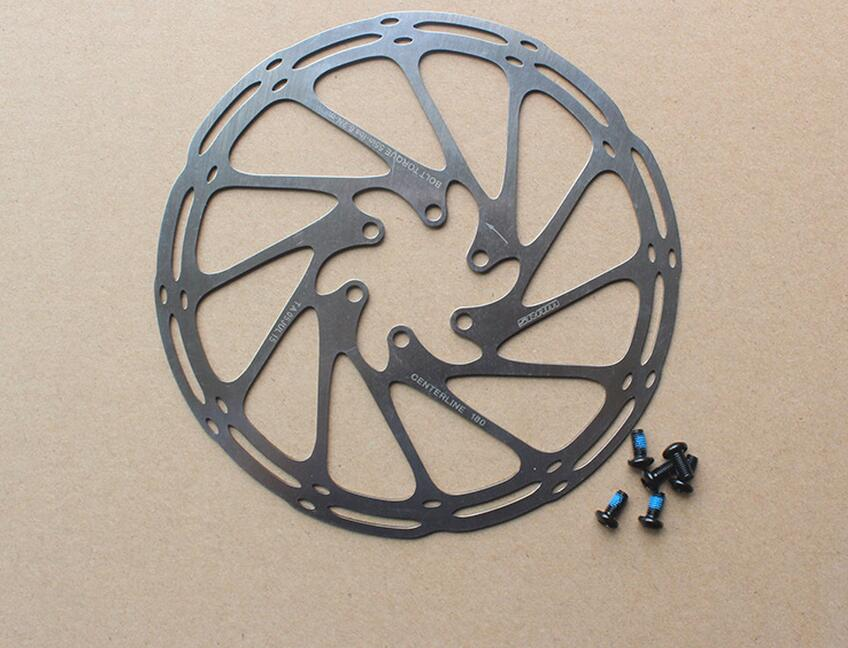 Centerline MTB Disc Brake Rotor 160mm 180mm Mountain Bike Cycling 6 Holes Rotor disc 160/180mm with screws beyond G3 HS1 bike road bicycle alloy mechanical disc brake set rear include 160mm centerline rotor 2 brake calipers 2 g3 disc rotors