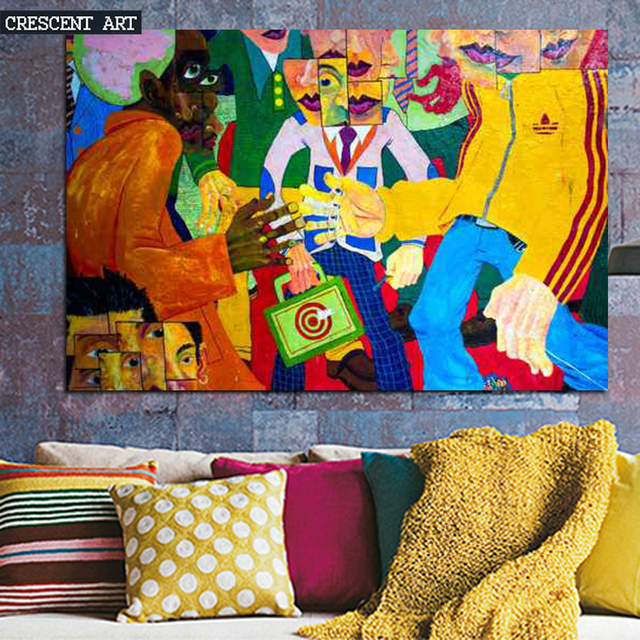 2016 Colourful Modern Pop Street Art Teenage Graffiti Poster Abstract Wall Picture Canvas Print Photo Home