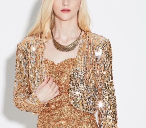 fcc4a10fab US $15.81 |Sexy Women Sequin Cardigan Jacket Coat Long Sleeve Short Cropped  Bolero Shrug Clubwear Vintage Party Costumes Xnxee-in Basic Jackets from ...