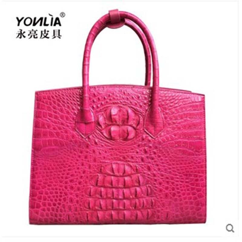 yongliang new crocodile leather  woman handbag women crocodile leather fashion women handbags