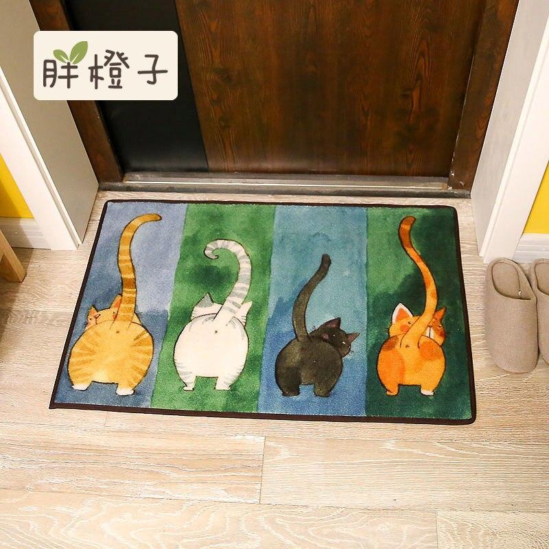 ᗚJaponés lindo gato felpudo Sala alfombra del dormitorio esteras ...