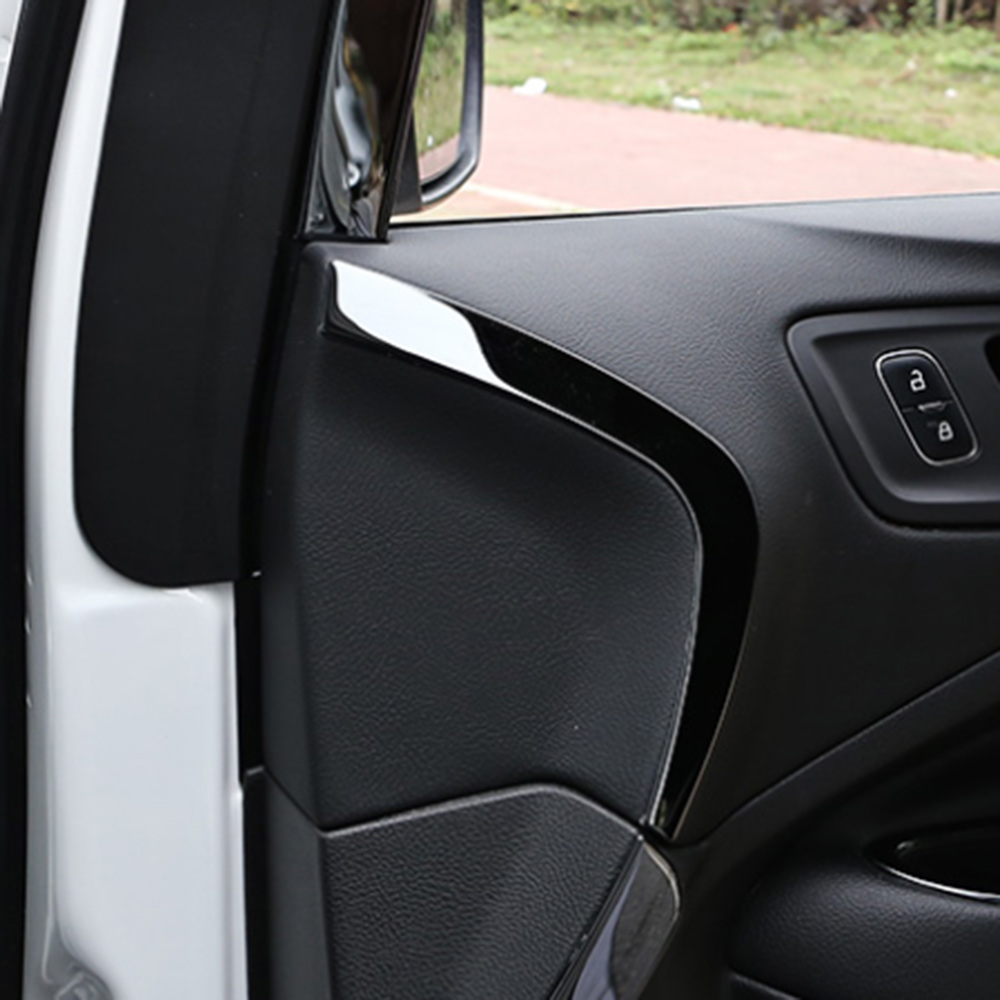IMTFOO STAINLESS INTERIOR DOOR PANEL TRIM MOLDING GARNISH FOR FORD KUGA ESCAPE 2016 2017 2018 ACCESSORIES CAR STYLING