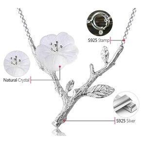 Image 5 - Collar con colgante de flor bajo la lluvia para mujer, joyería fina de diseño hecho a mano, Lotus Fun, Plata de Ley 925 auténtica