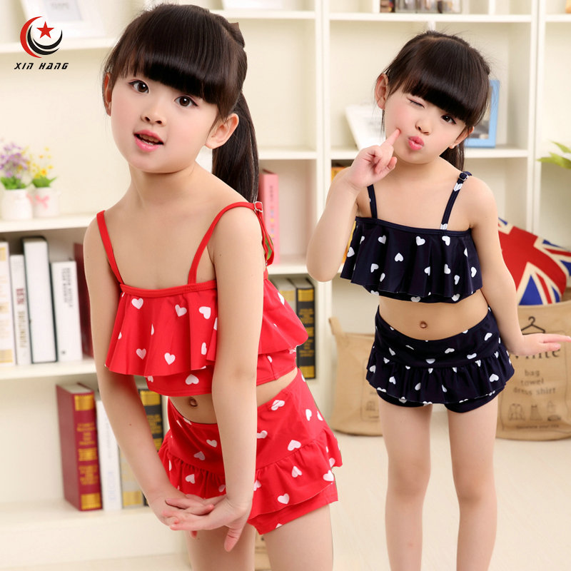 A Set 2pcs Girls Two Piece Swimsuits Swimwear For Baby