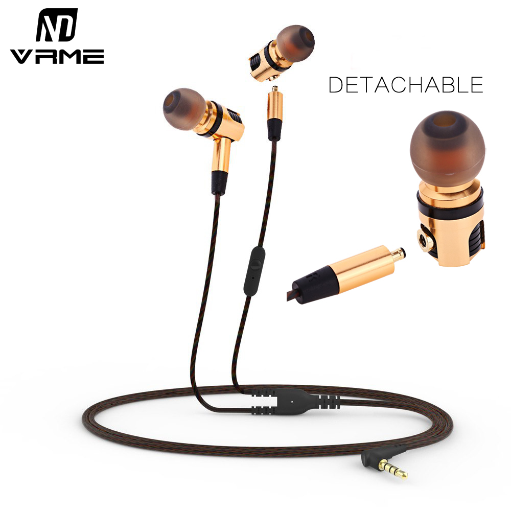 Vrme Earphone 3.5mm jack Stereo Earphones and Headphone with Microphone Durabl Music Headset Detachable Earbuds for Mobile Phone 25mm 1 7mhz ultrasonic humidifier atomization fogger mist maker piezoelectric ceramic transducer film d25mm