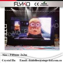 Flyko гибкие светодио дный светодиодные видео шторы для сцены назад PC контроллер и питание SD карты огнестойкие P40mm 2 x м 3 м