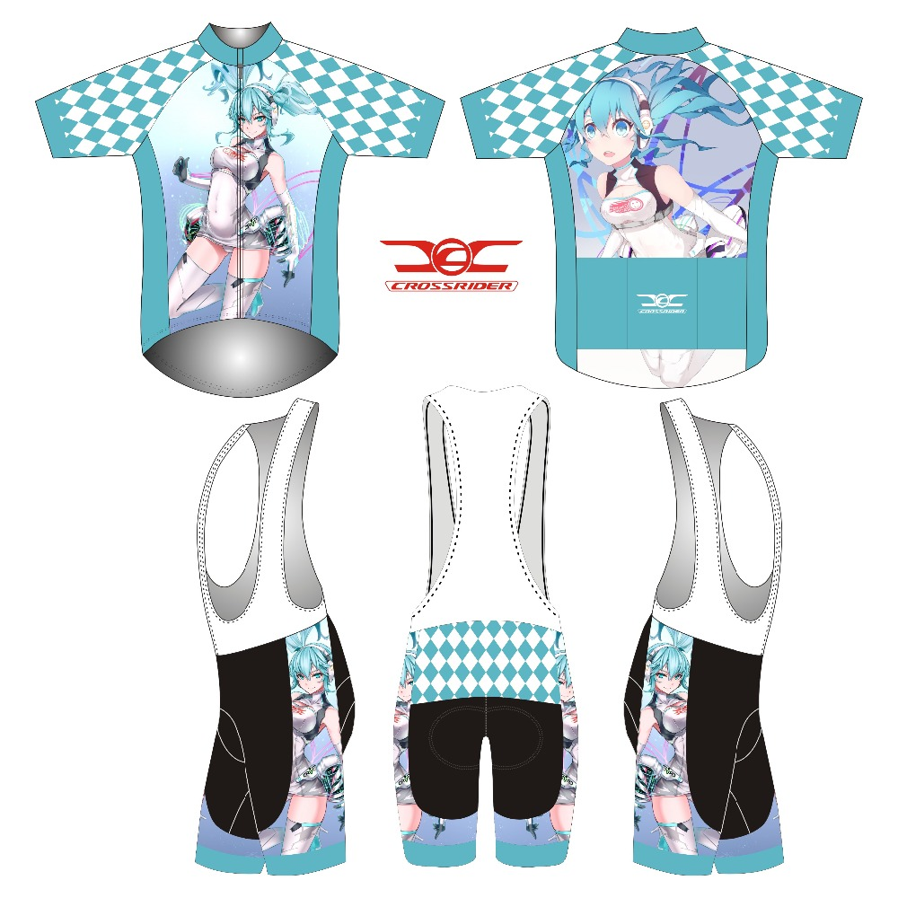 2018 short Sleeve Hatsune Miku Bicycle Cycle Clothing Mens Cycling Jersey set short Sleeve Outdoor Sports Quick Dry MTB jersey 3 topeak outdoor sports cycling photochromic sun glasses bicycle sunglasses mtb nxt lenses glasses eyewear goggles 3 colors