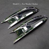 Rear Fog lights cover Trim ABS Chrome For 2014 2015 2016 Mazda 3 Hatchback/Sedan Tail Foglight Lamp Decoration Car Accessories
