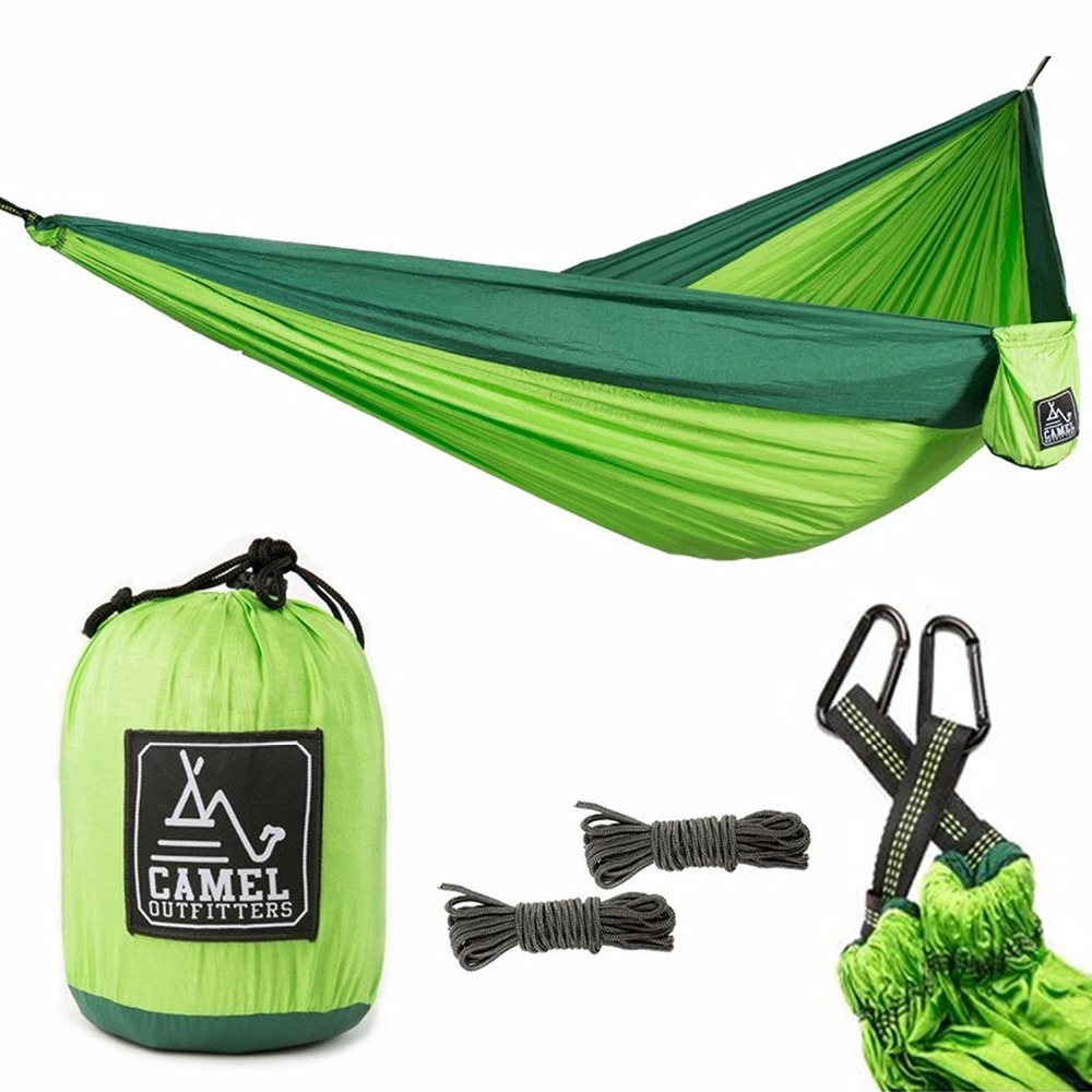 Backpacking Hiking Outdoors or Travel Lightweight Portable with Max 1000 lbs Capacity XL Double Nylon Parachute Camping Hammock exerpeutic 1000 magnetic hig capacity recumbent exercise bike for seniors