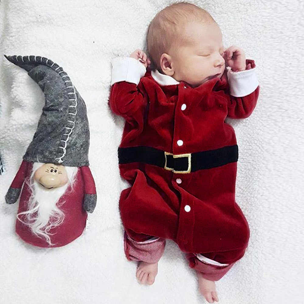 d9d9dadad60 2018 Christmas Baby rompers Costume kids newborn clothes long sleeve spring children  infant clothing set Jumpsuit