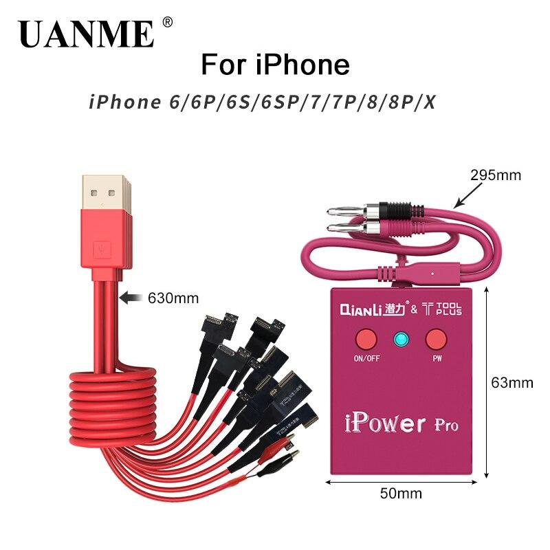 UANME Alimentation Test Câble Avec ON/OFF Commutateur iPower Pro pour iPhone 6g/6 p/ 6 s/6SP/7g/7 p/8g/8 p/X DC Puissance test de contrôle de Câble