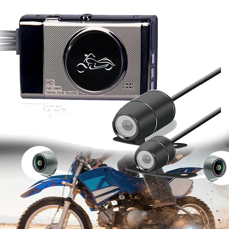 M19 Motorcycle Dash Cam 1080P/720P Sports Action Vedio Camera DVR  Action Dual Camera Dash Cam Video Camcorder Recorder Mic