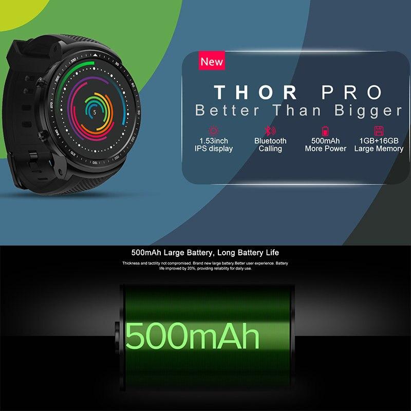 Zeblaze Thor PRO smart watch men heart rate call message reminder business sport watch smart electronics man smartwatch on wrist