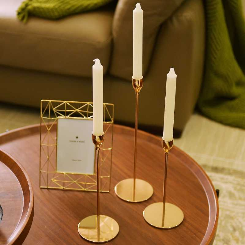 5 styles Classic Golden Metal Candle Holder Table Decoration Candlestick Ornament Party Wedding Home Decor Portable Candle Stand